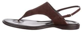 Giorgio Armani Nubuck Thong Sandals