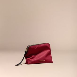 Burberry Zip-top Technical Nylon Pouch $195 thestylecure.com
