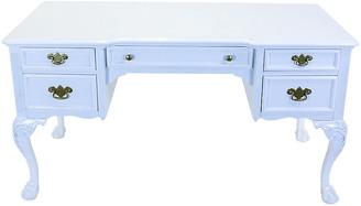One Kings Lane Vintage Link Taylor White Lacquered Desk - Vintage Bella Home