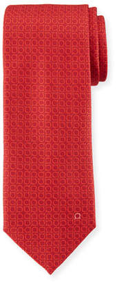 Salvatore Ferragamo Textured Solid Silk Tie, Red