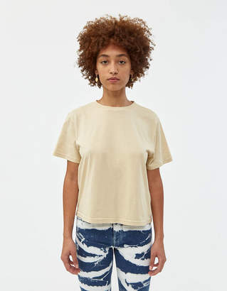 Jeanerica Classic Short Sleeve Tee in Pale Yellow