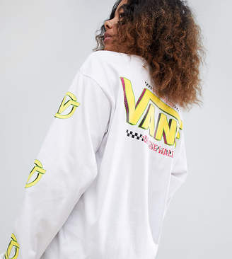 Vans Exclusive White Archive Back Print Long Sleeve T-Shirt
