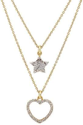 Renee Lewis Women's Star- & Heart-Pendant Two-Tier Necklace - Gold