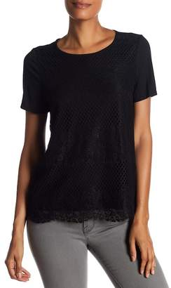 Joe Fresh Lace Front Tee