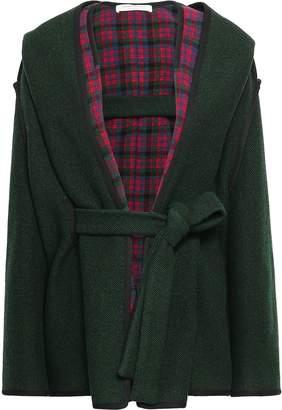 Philosophy di Lorenzo Serafini Checked Wool-blend Hooded Coat