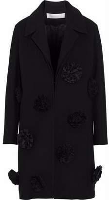 Victoria Beckham Victoria Floral-Appliquéd Wool Coat