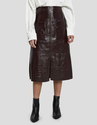 Mijeong Park Faux Patent Leather Skirt in Wine
