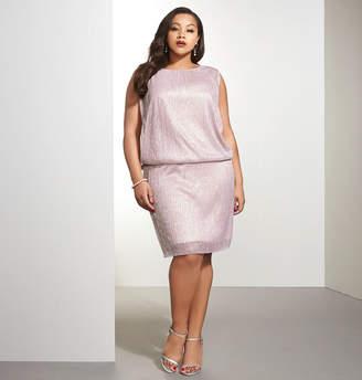 Avenue Shimmer Blouson Dress