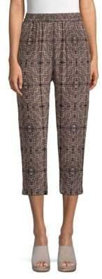 Club Monaco Patricia Silk Cropped Pants
