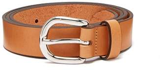 Isabel Marant Zap Skinny Leather Waist Belt - Womens - Brown