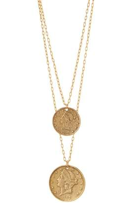 Yochi Legend Coin Layered Pendant Necklace