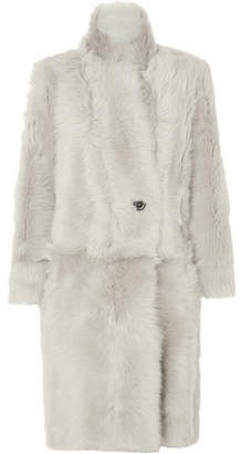 Karl Donoghue Reversible Double-breasted Shearling Coat - Light gray