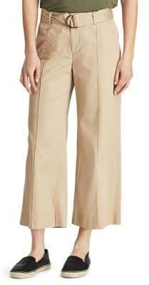 Lauren Ralph Lauren Twill Cropped Wide-Leg Pants