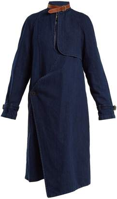 J.W.Anderson Asymmetric neck-strap denim coat