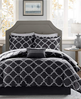 Madison Park Essentials Merritt Reversible 9-Pc. Queen Comforter Set Bedding