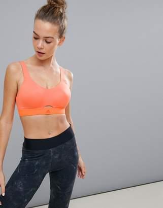 adidas Stronger for It soft bra in orange