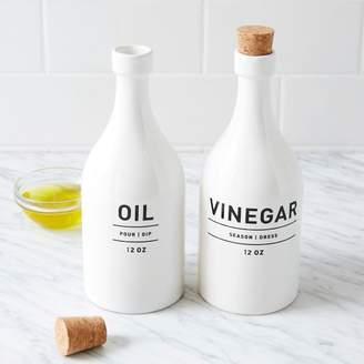 west elm Utility Oil + Vinegar Set - White