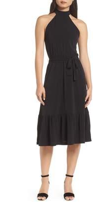 MICHAEL Michael Kors Halter Midi Dress