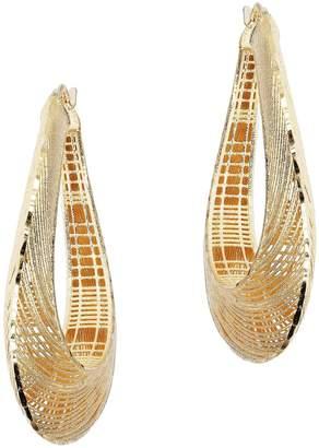 Arte D'oro Arte d' Oro Satin Texture Oval Hoop Earrings, 18K