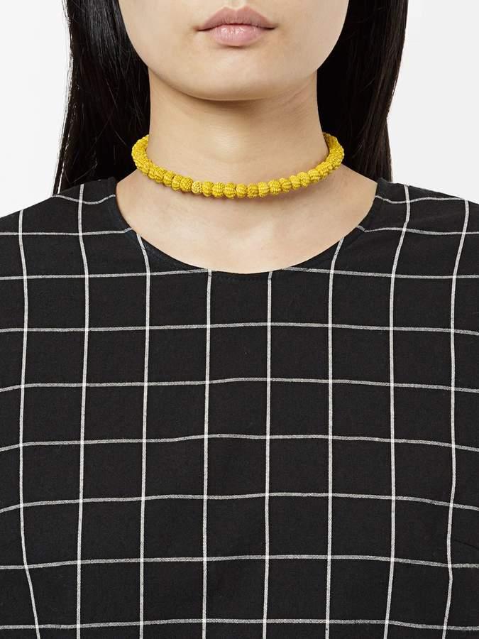 Mercedes Salazar woven bead choker