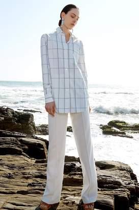 Genuine People Button Down Silky Chiffon Shirt