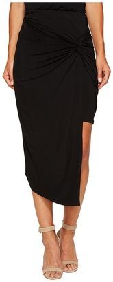 kensie - Lightweight Viscose Spandex Knot Skirt KS6K6235 Women's Skirt $49 thestylecure.com