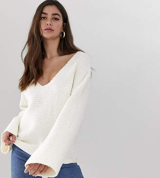 Asos Tall DESIGN Tall slouchy v neck sweater