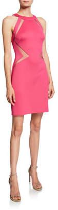 SHO Cutout Neoprene Halter Dress