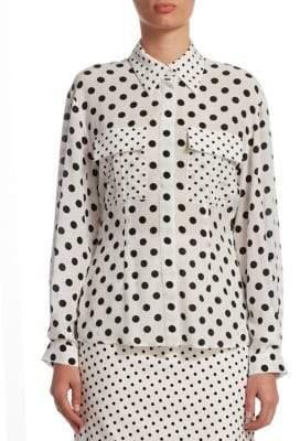 Mary Katrantzou Polka Dot Shirt Blouse