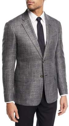 Emporio Armani Textured Two-Button Jacket