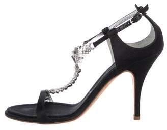 Giuseppe Zanotti Satin Round-Toe Sandals