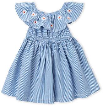 Margherita Missoni (Newborn/Infant Girls) Embroidered Stripe Dress