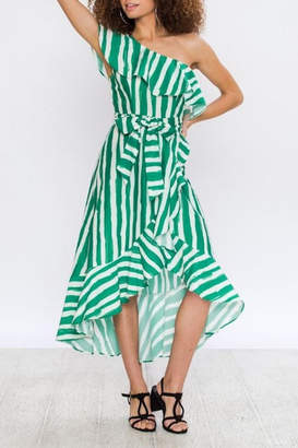 Flying Tomato Breathtaking Kelly-Green Dress