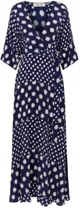 Diane von Furstenberg Eloise Polka Dot Wrap Dress