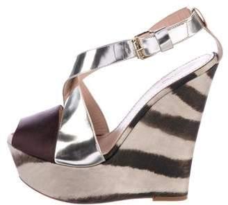 Giambattista Valli Peep-Toe Platform Wedge Sandals