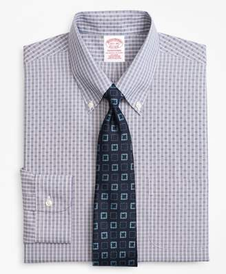 Brooks Brothers Traditional Relaxed-Fit Dress Shirt, Non-Iron Two-Tone Check