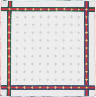Gucci Bee pattern silk pocket square
