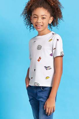 Forever 21 Girls Taco Bell Graphics Tee (Kids)