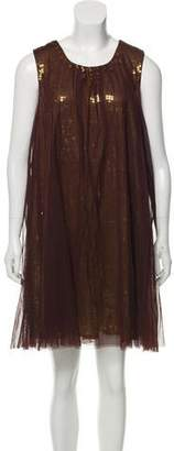 Elizabeth and James Sequin-Embellished A-Line Dress