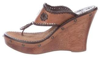 Jack Rogers Thong Leather Sandals