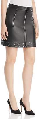 Elie Tahari Zoey Studded Leather Mini Skirt