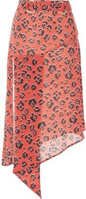 SUBOO Zanzibar print belted midi skirt