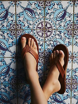 Rainbow Flip Flop by Free People $52 thestylecure.com