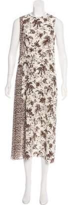 Tory Burch Silk Floral Maxi Dress