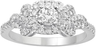 Vera Wang Simply Vera 14k White Gold 3/4 Carat T.W. Diamond Bow Ring