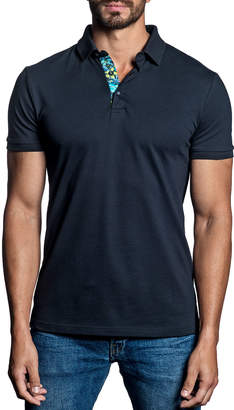 Jared Lang Men's Short-Sleeve Knit Polo Shirt
