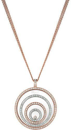 Chopard Chopard Happy Spirit 18k Two-Tone Diamond Long Pendant Necklace, 3.17tcw