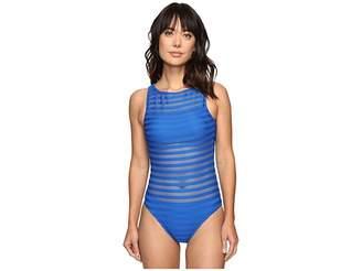 Lauren Ralph Lauren Ottaman Mesh Hi Neck Mio One-Piece Women's Swimwear