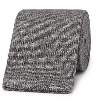 Brunello Cucinelli 6.5cm Knitted Mélange Cotton Tie