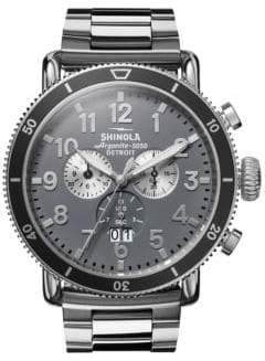 Shinola Runwell Sport Chronograph Stainless Steel Bracelet- Strap Watch